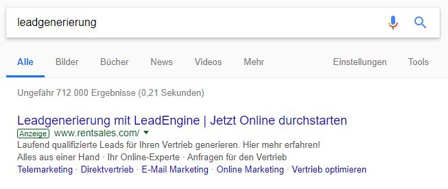 SEA - zoekmachine adverteren met GoogleAds, weergeven in zoekresultaten